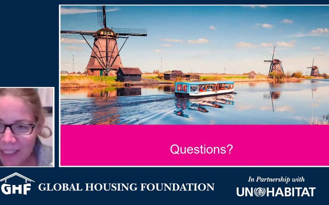 GHF Discussion:Lutine de Boer, Reg Prgm Mgr Housing, Alkmaar: Sustainable Climate Resilient Housing