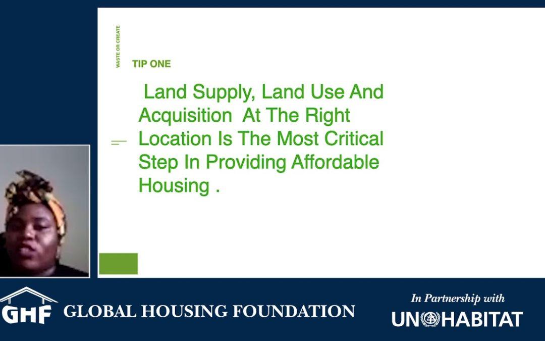 GHF Conversation: Chineyenma Okoro Onu, Environmentalist: Impact of Smart, Sustainable Global Housing Solutions